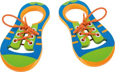 Jeux et Jouets Legler 2020 - Chaussures à lacet éducative en bois