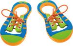 Loisirs Créatifs/Legler 2020 - Chaussures à lacet éducative en bois