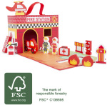 Racine/Legler 2020 - Valise transportable Caserne, ferme ou princesse  en bois certifié FSC® 100%