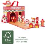 Legler 2020 - Valise transportable Caserne, ferme ou princesse  en bois certifié FSC® 100%