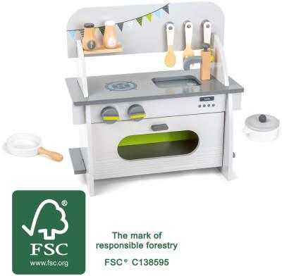 Racine Legler 2020 - Cuisine compact enfant en bois certifié FSC® 100%