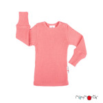 Débardeurs, T-shirts, pulls, gilets, multicapes et bodys/MANYMONTHS 2020-21 - T-shirt enfants manches longues en pure laine mérinos