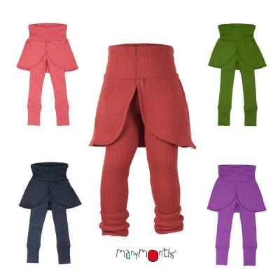 Débardeurs, T-shirts, pulls, gilets, multicapes et bodys MANYMONTHS 2020-21 - Leggings/jupe pour enfants en pure laine mérinos