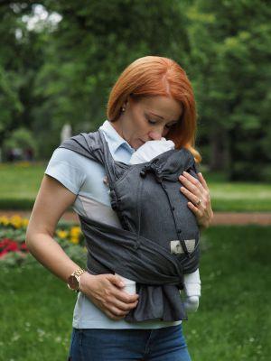 Babycarrier STORCHENWIEGE NOUVEAU - Wrap Babycarrier Storchenwiege graphite