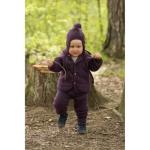 ENGEL Nouveauté - Manteaux bébés avec capuche en 100% laine mérinos, polaire (50 au 92)