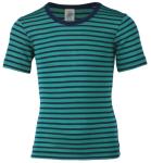 """ENGEL Nouveauté - Sous-pull """"t-shirts"""" manches courtes à rayures en laine et soie (86-164)"""
