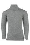 Débardeurs, T-shirts, pulls, gilets, multicapes et bodys/ENGEL Nouveauté - Col roulé gris chiné en laine et soie (tailles 86/92 à 152)