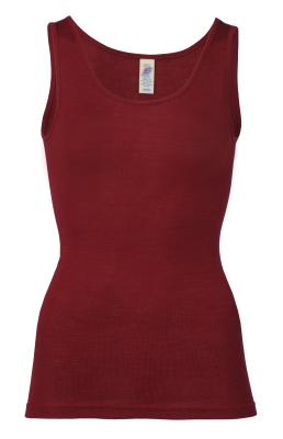 Coup de coeur ENGEL - Débardeur en laine/soie FEMME – Rouge rubis
