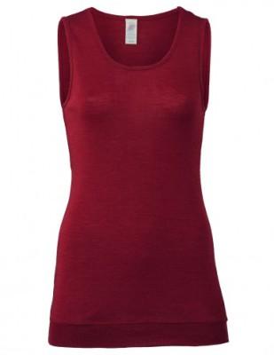 Coup de coeur ENGEL - Débardeur long femme en laine/soie Rouge rubis