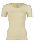 ENGEL - Sous-pull femme manches courtes  en laine/soie Écru