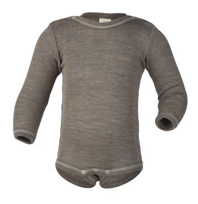 Débardeurs, T-shirts, pulls, gilets, multicapes et bodys ENGEL Nouveauté - Body bébé en laine et soie Noix (50 au 92)