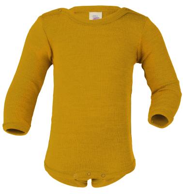 Débardeurs, T-shirts, pulls, gilets, multicapes et bodys ENGEL Nouveauté - Body bébé en laine et soie Safran (50 au 92)