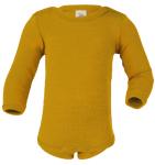 Racine/ENGEL Nouveauté - Body bébé en laine et soie Safran (50 au 92)