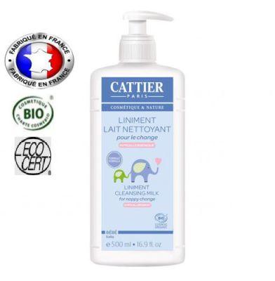 En préparation CATTIER - Liniment BIO 500 ml (lait nettoyant bio)