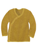 Racine/Disana 21 - Gilet cache coeur bébé 100% laine mérinos bio