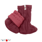 Racine/Manymonths 2021-22 - Chaussons de portage ajustables et réversibles laine mérinos et polaire