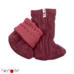 Manymonths 2021-22 - Chaussons de portage ajustables et réversibles laine mérinos et polaire