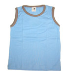 Collection STORCHENKINDER ENFANT (tailles 86-140)/STORCHENKINDER - MARCEL – T-shirt sans manches BLEU CIEL en coton bio