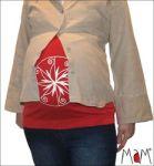 Idées Cadeaux/MaM MULTITUBE coton – Bandeau de grossesse et top d'allaitement
