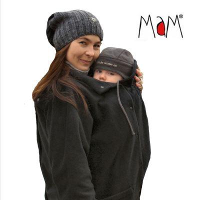Col de portage MaM Two Way Jacket DELUXE – NOIR extérieur façon peau de pêche