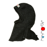 Laine 100% mérinos Ancienne Collection/MANYMONTHS - CAGOULE (bonnet éléphant) en pure laine mérinos