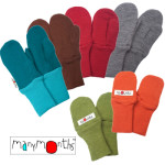 MANYMONTHS Collection LAINE/MANYMONTHS – MOUFLES en pure laine mérnos