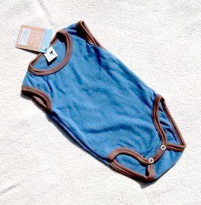 Racine Débardeur et Body sans manches en coton flanelle gratté bio taille 86/92