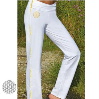 Pantalons Pantalon de Yoga FLEUR DE VIE – BLANC