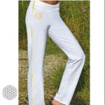 Racine/Pantalon de Yoga FLEUR DE VIE – BLANC