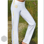 PANTALONS/Pantalon de Yoga FLEUR DE VIE – BLANC
