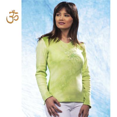 Racine T-Shirt Batik TARA VERTE manches longues