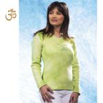 T-Shirt Manches Longues/T-Shirt Batik TARA VERTE manches longues