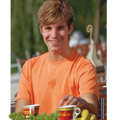 Racine T-Shirt BASIC - SHRI YANTRA Orange
