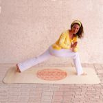 Racine/Tapis de Yoga en laine THE SPIRIT OF OM