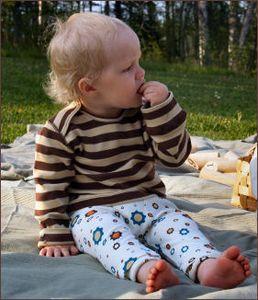 Racine MANYMONTHS – PANTALON BAMBIN ajustable en coton bio
