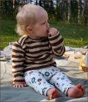 Racine/MANYMONTHS – PANTALON BAMBIN ajustable en coton bio