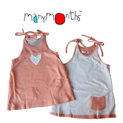 Robes et jupes MANYMONTHS -  ROBE REVERSIBLE en coton bio