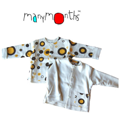 Coton Bio Ancienne Collection MANYMONTHS - GILET/SHIRT RÉVERSIBLE en coton bio