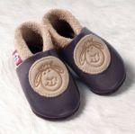 POLOLO SOFT - Chaussons souples en cuir naturel de tannage végétal pour enfants (24 à 39)/Chausson Pololo MOUTON (18 à 33)