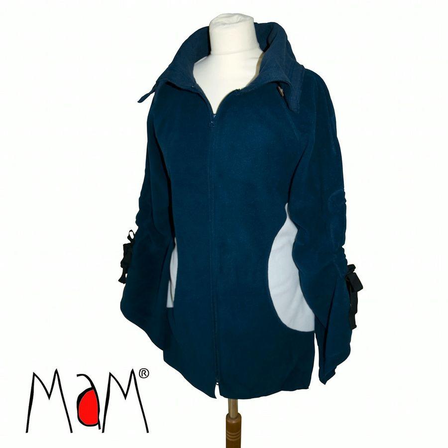 Vestes et manteaux MaM MaM 2en1 VESTE-TUNIQUE de maternité en Polaire – BLEU IRIS