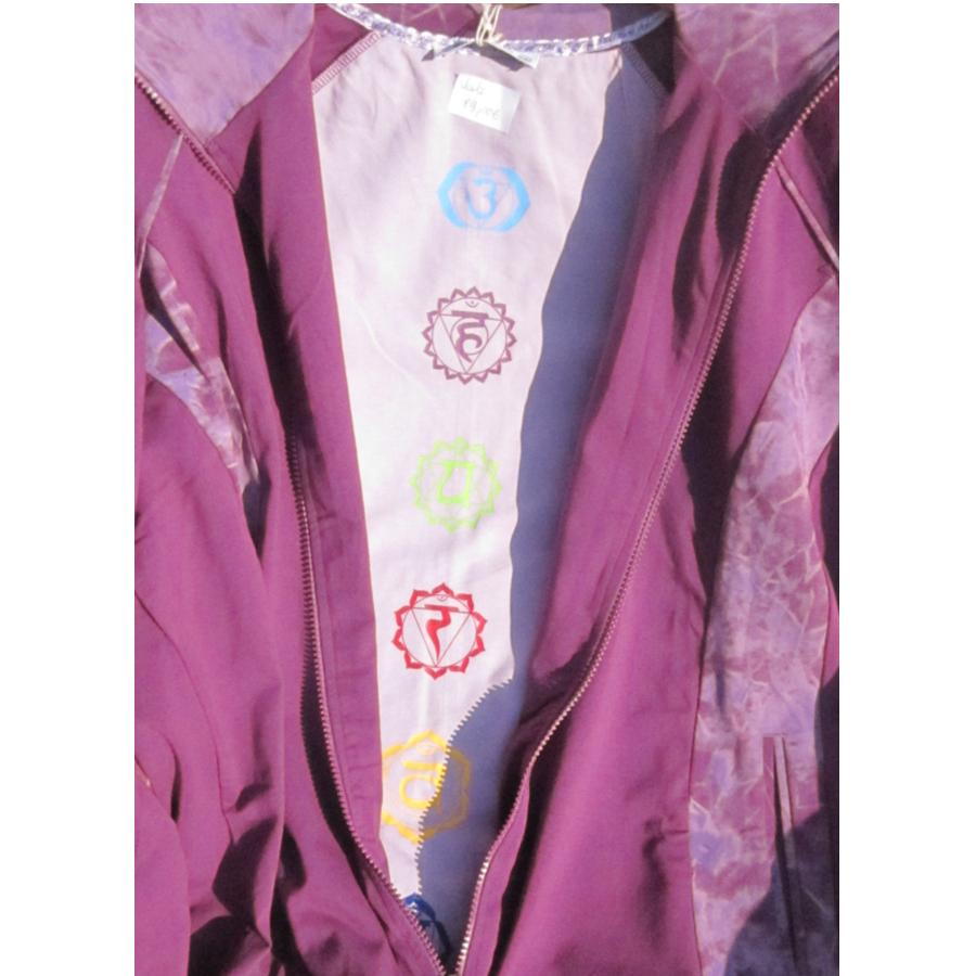 Vestes chakra Veste CHAKRA – VIOLA  avec broderie et batik