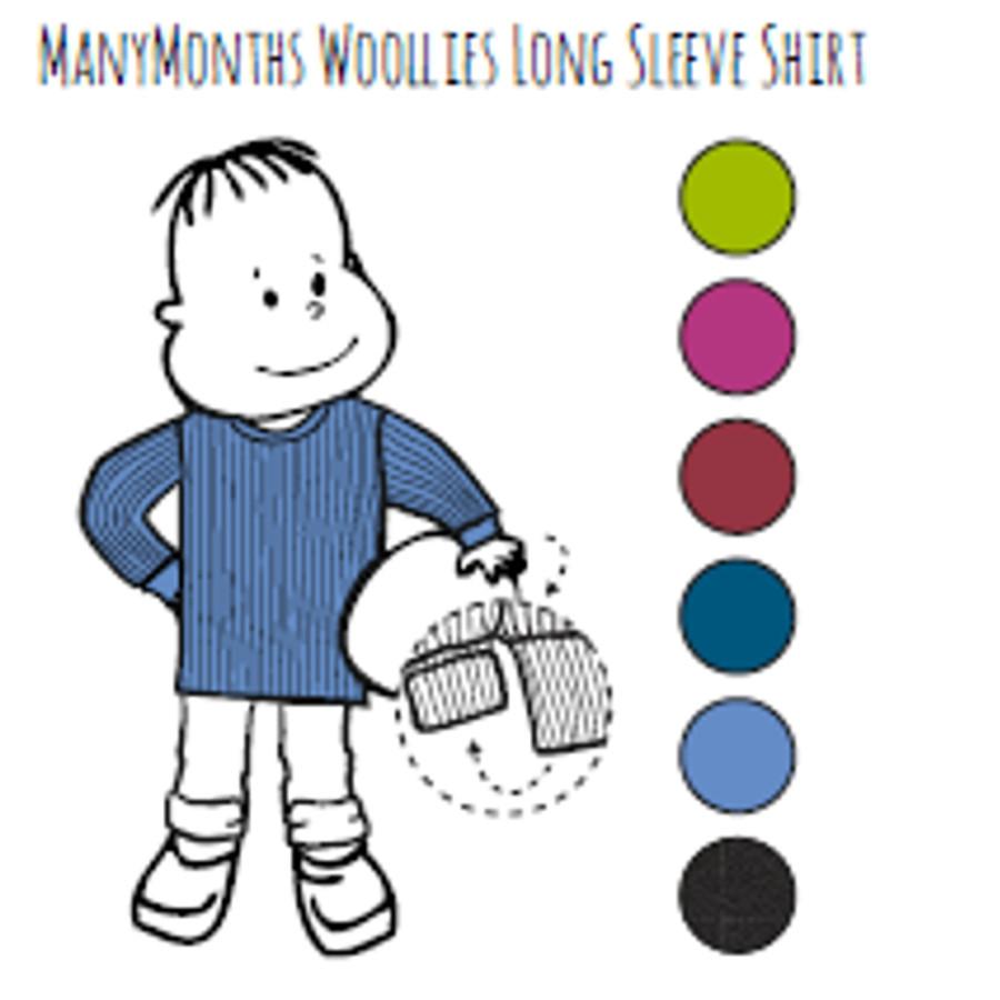 Laine Bio 2018-2019 MANYMONTHS - T-SHIRT ENFANT Manches longues en pure laine mérinos