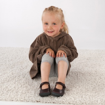 POLOLO MAXI - chaussures pour enfants en cuir écologique  du 24 au 34 Pololo – Ballerines MERCEDES CHATAIGNE(24 au 34)