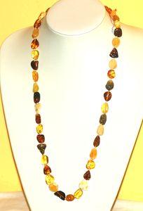Bijoux en Ambre Sautoir en ambre GALETS FINS