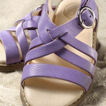 POLOLO MAXI - chaussures pour enfants en cuir écologique  du 24 au 34 Pololo – Sandales NINA LILAS (24 au 34)