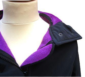 Racine MAMALILA - Veste de grossesse et portage Softshell Sympatex Noir - Fuchsia