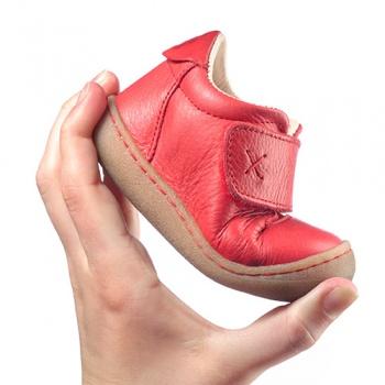 Racine POLOLO - PRIMERO ROUGE BERRY - Chaussures souples premiers pas
