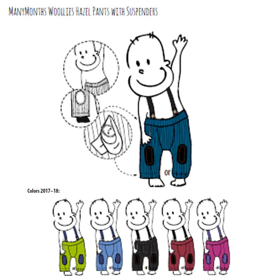 POLOLO KIGA - chaussons souples en cuir naturel avec semelle antidérappante (24-33) MANYMONTHS – HAZEL PANTS – pantalon en pure laine mérinos