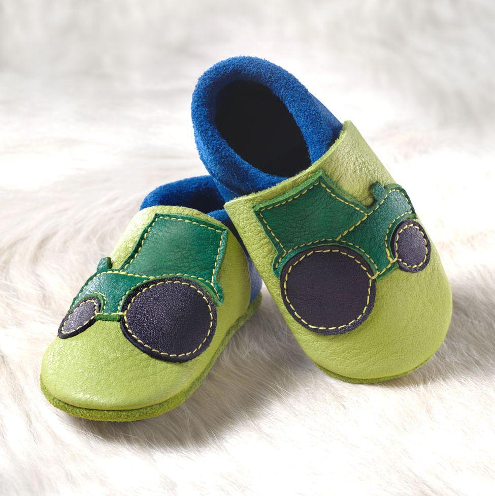 POLOLO SOFT - Chaussons souples en cuir naturel de tannage végétal Chausson Pololo TRACTEUR (18 à 23)