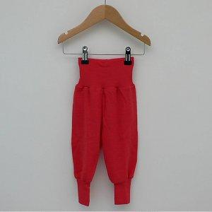 Sous-vêtements ENGEL - SOUS-PANTALON BEBE ROUGE HIBISCUS en PURE LAINE VIERGE BIO (62-92)